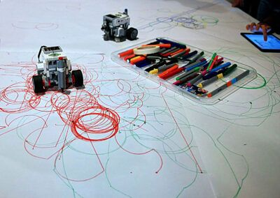 Programmering af robot med tablet