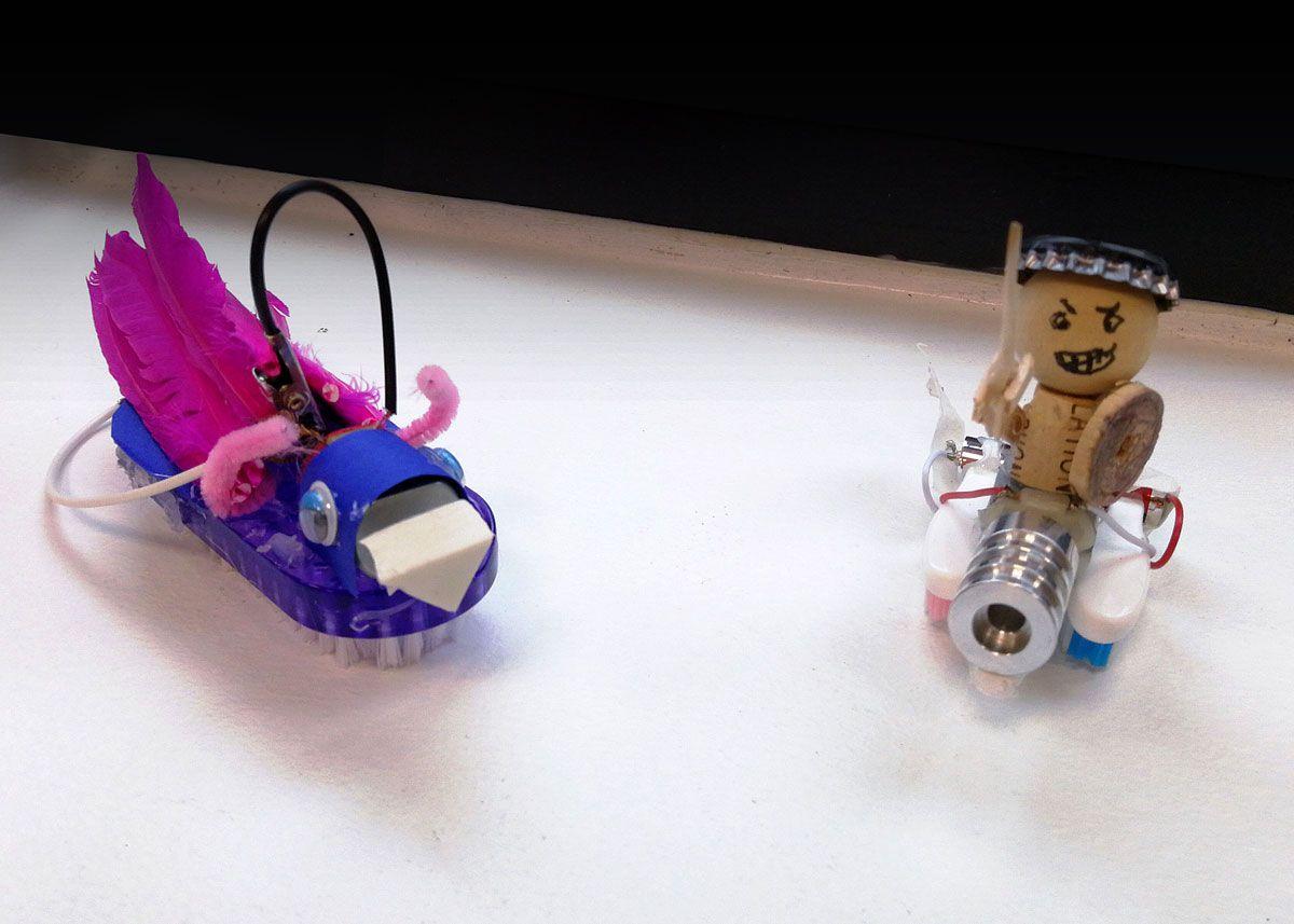 Børsterobotter fra Danmarks Robotfestival