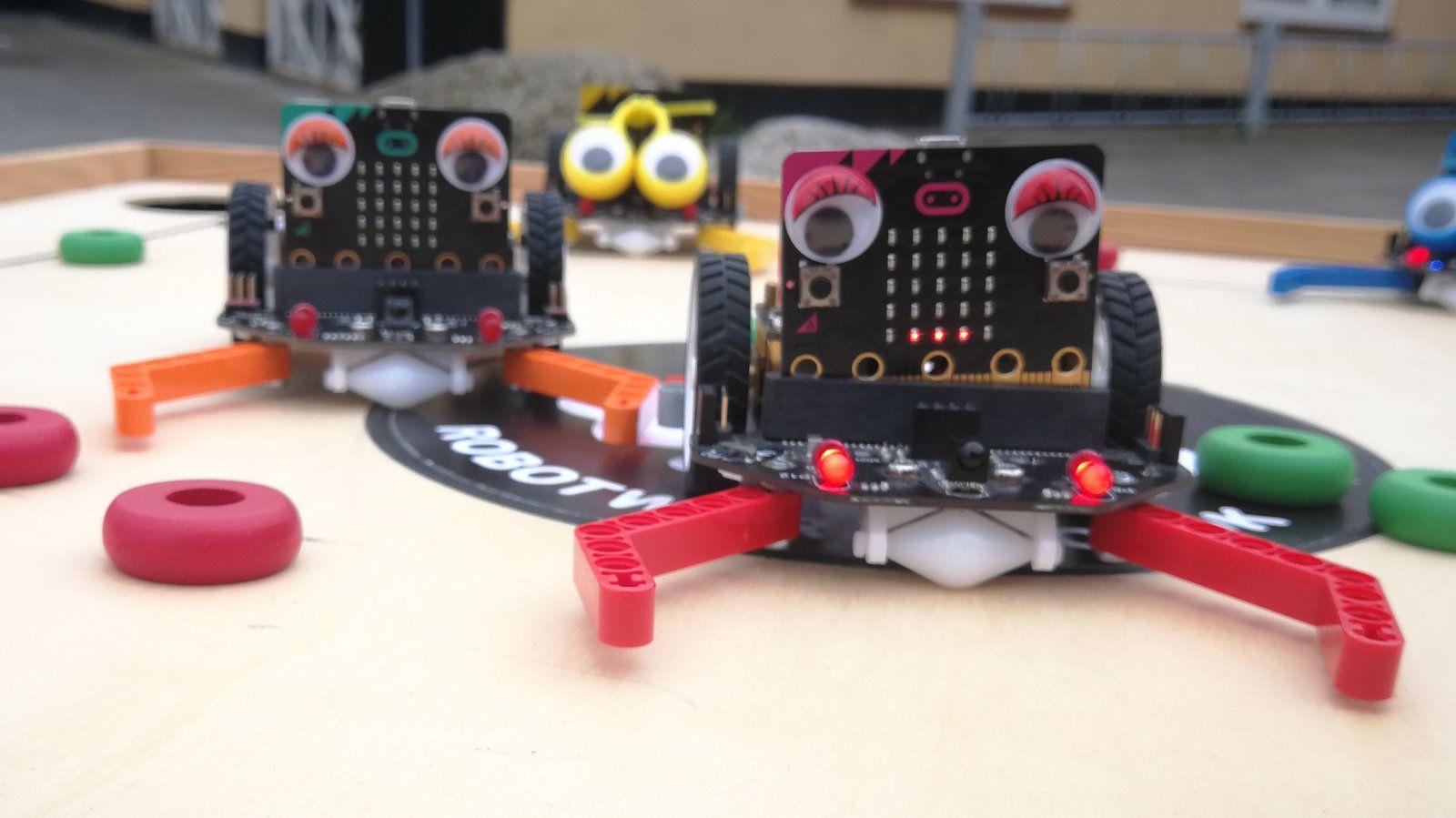 Robot-Bob programeres med MakeCode